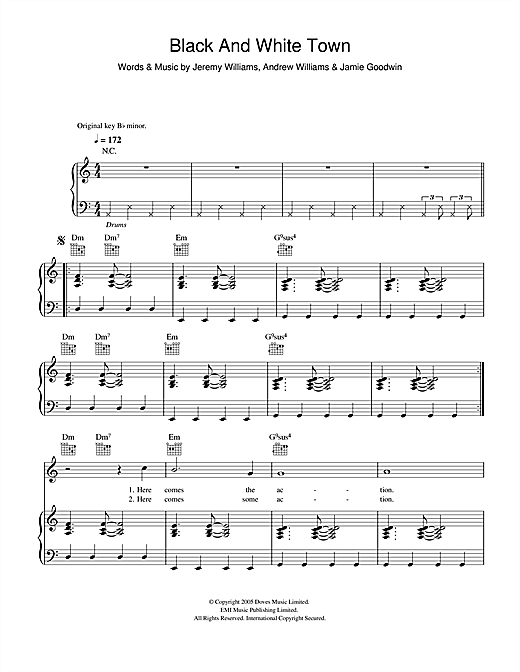 Black And White Town Sheet Music