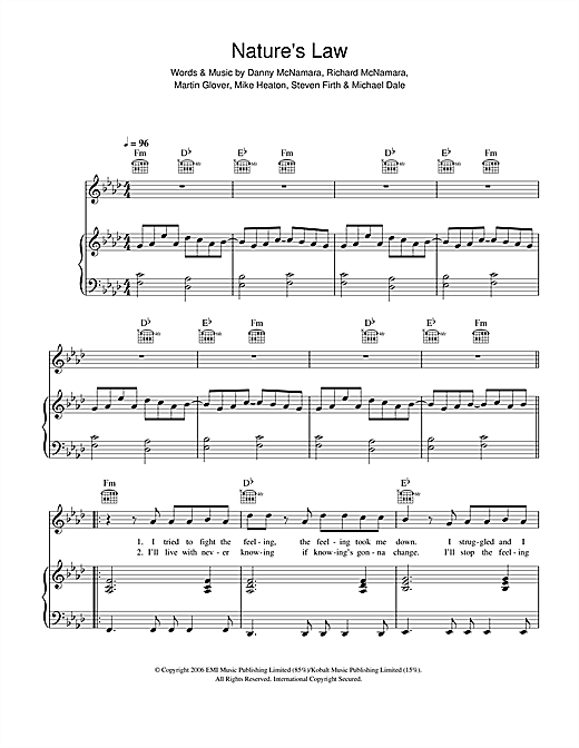 Nature's Law Sheet Music