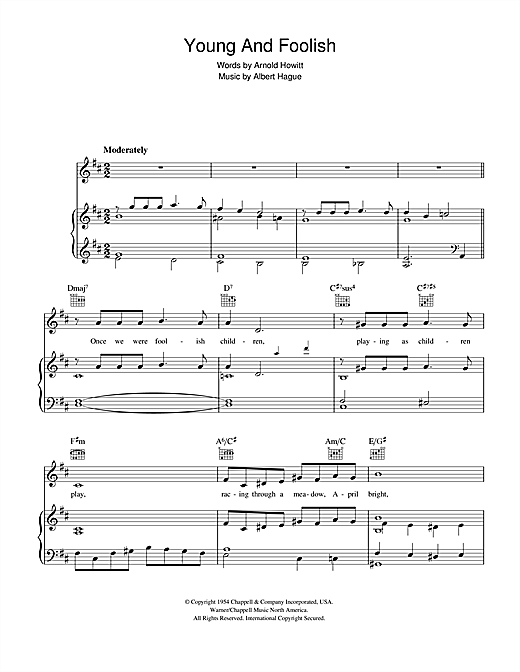 Young And Foolish Sheet Music