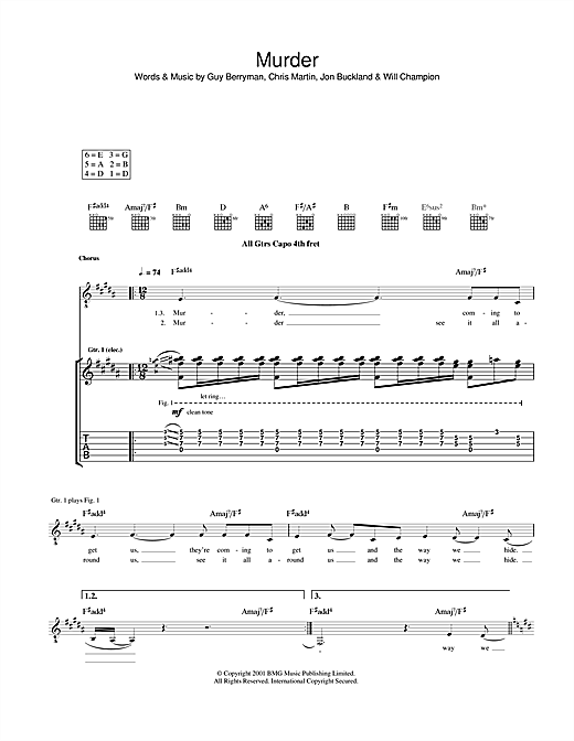 Murder Sheet Music