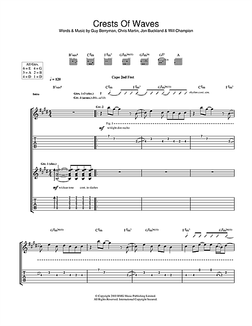Crests Of Waves Sheet Music