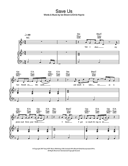 Save Us Sheet Music