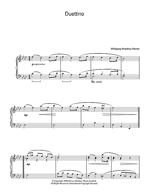 Duettino Sheet Music