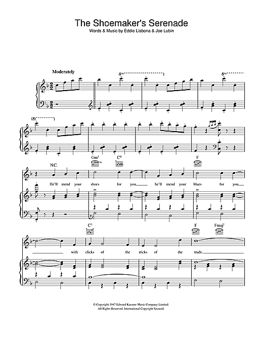 The Shoemaker's Serenade Sheet Music