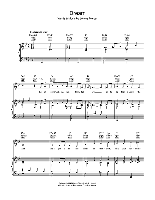 Dream Sheet Music