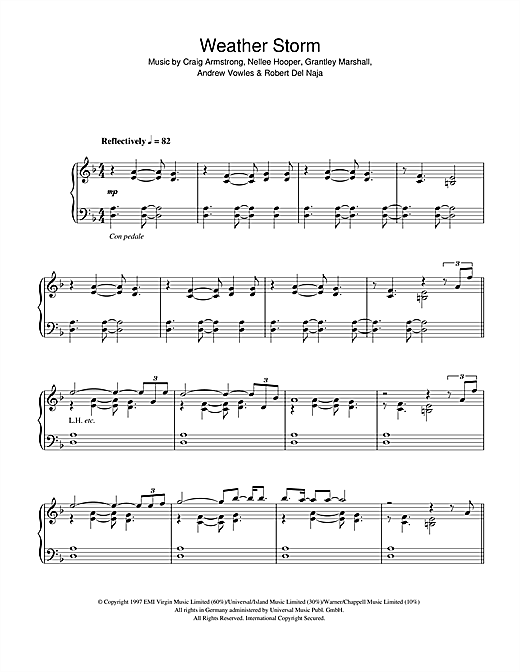 Weather Storm Sheet Music