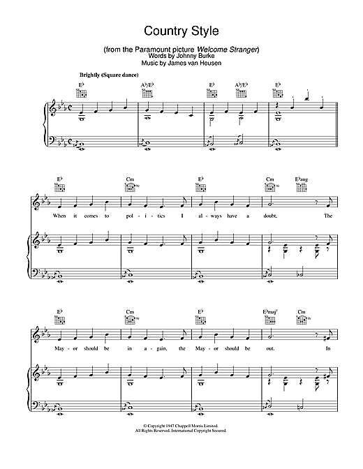 Country Style Sheet Music