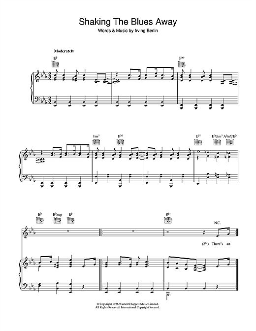 Shaking The Blues Away Sheet Music