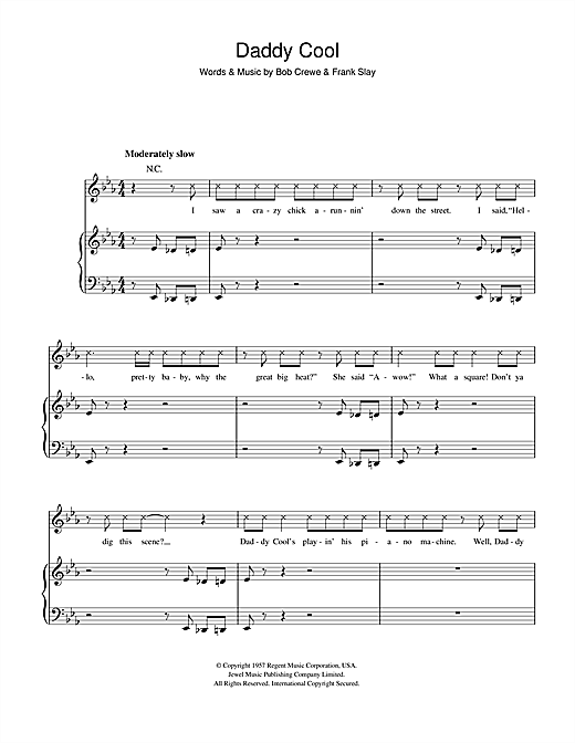 Daddy Cool Sheet Music