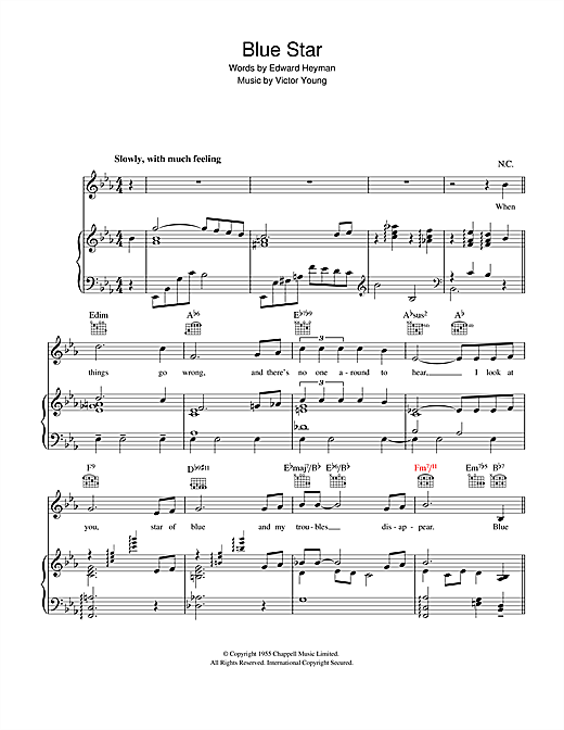Blue Star (The Medic Theme) Sheet Music