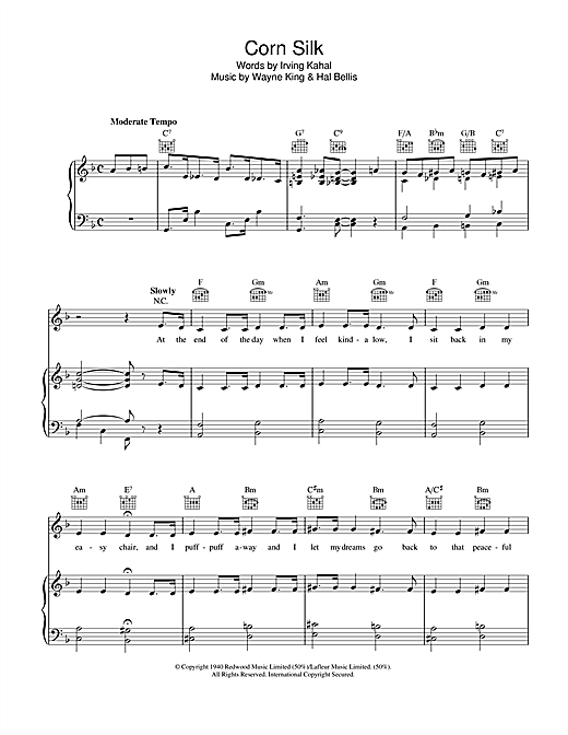 Corn Silk Sheet Music