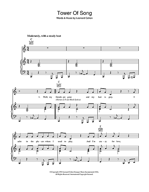 Tower Of Song Sheet Music