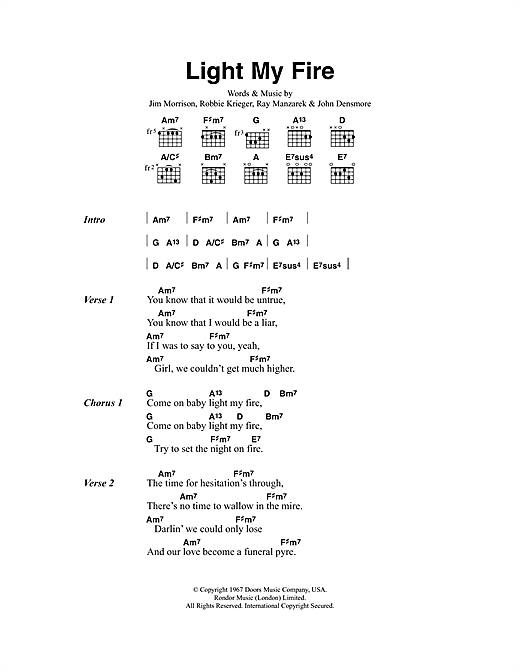 Light My Fire - Print Sheet Music Now