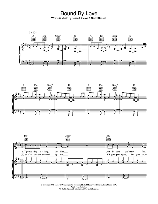Bound By Love Sheet Music