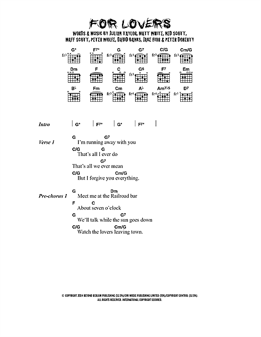 For Lovers (feat. Pete Doherty) (Guitar Chords/Lyrics)