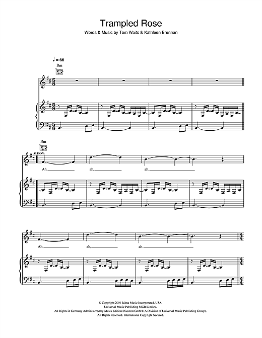 Trampled Rose Sheet Music