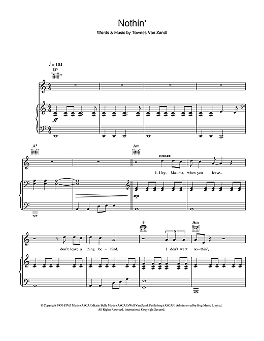 Nothin' Sheet Music