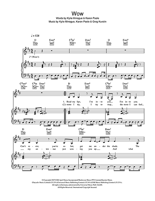 Wow Sheet Music