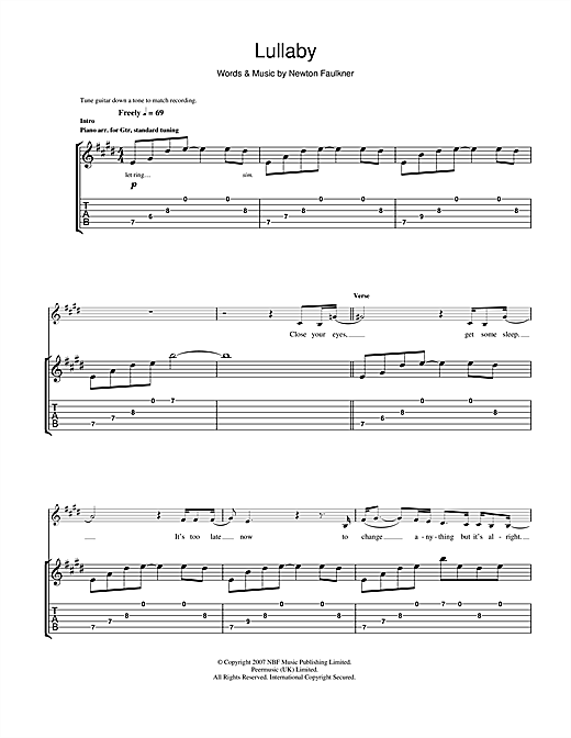 Lullaby Sheet Music