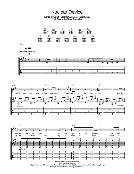 Nuclear Device Sheet Music