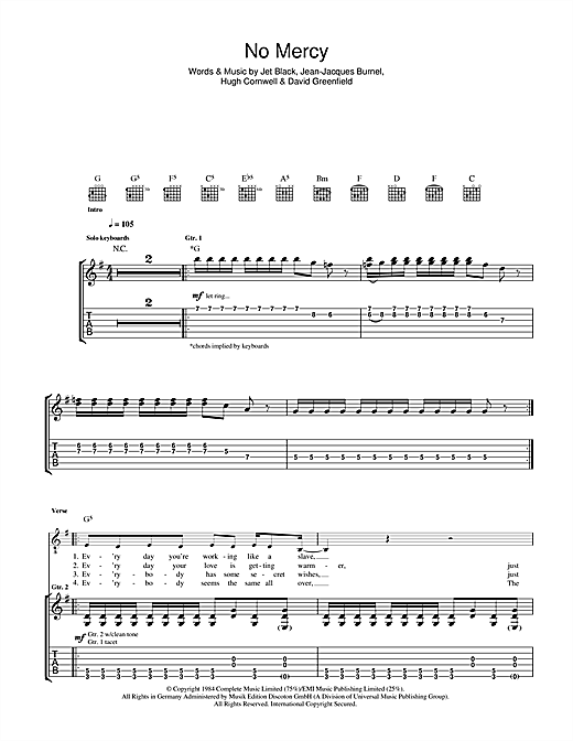 No Mercy Sheet Music