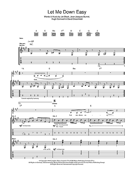 Let Me Down Easy Sheet Music