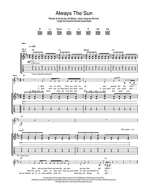 Always The Sun (Guitar Tab)