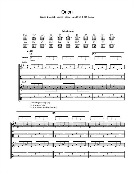 Orion Sheet Music