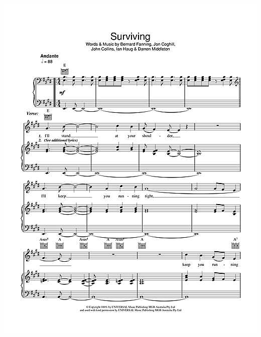 Surviving Sheet Music