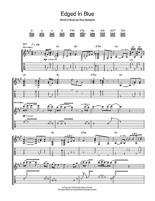 Edged In Blue Sheet Music