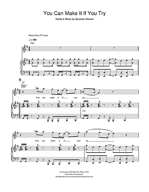 You Can Make It If You Try Sheet Music