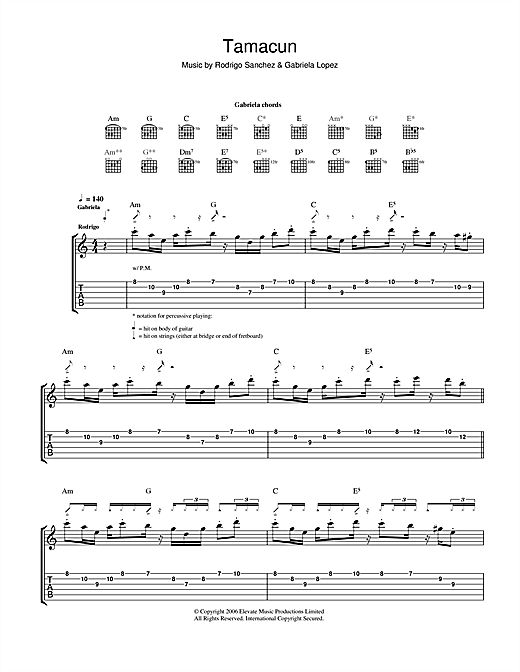 Tamacun Sheet Music