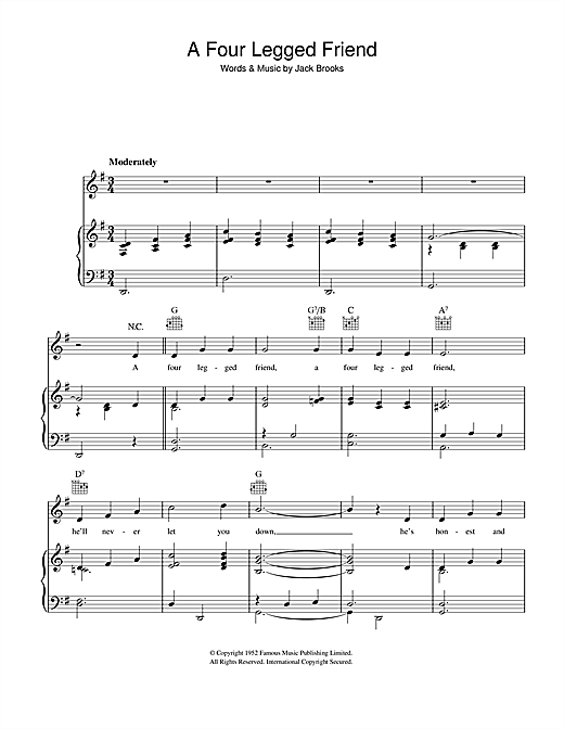 A Four Legged Friend Sheet Music