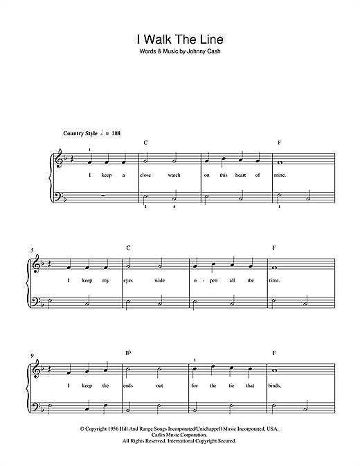 I Walk The Line Sheet Music