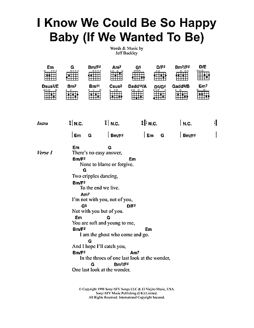 I Know We Could Be So Happy Baby (If We Wanted To Be) Sheet Music