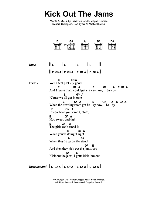 Kick Out The Jams Sheet Music
