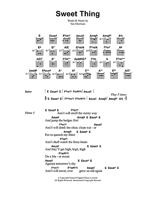 Sweet Thing Sheet Music