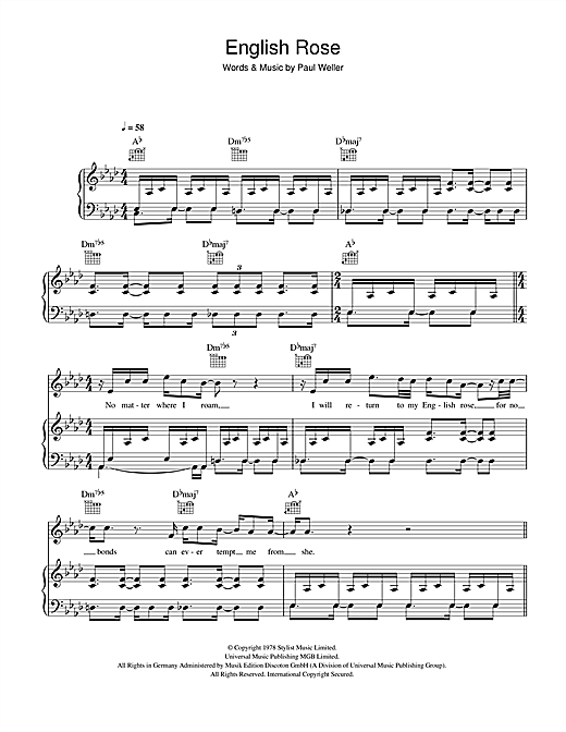 English Rose Sheet Music