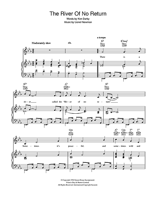 The River Of No Return Sheet Music