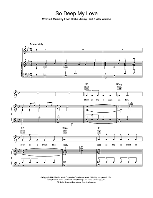 So Deep My Love Sheet Music