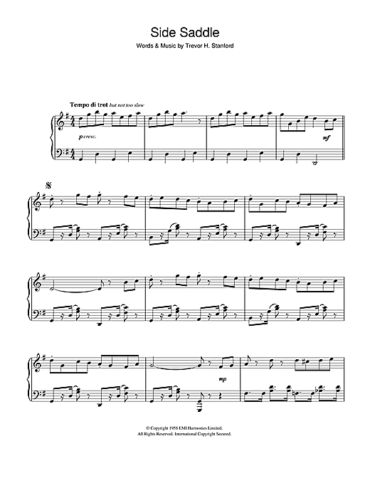 Side Saddle Sheet Music By Trevor H. Stanford (Piano