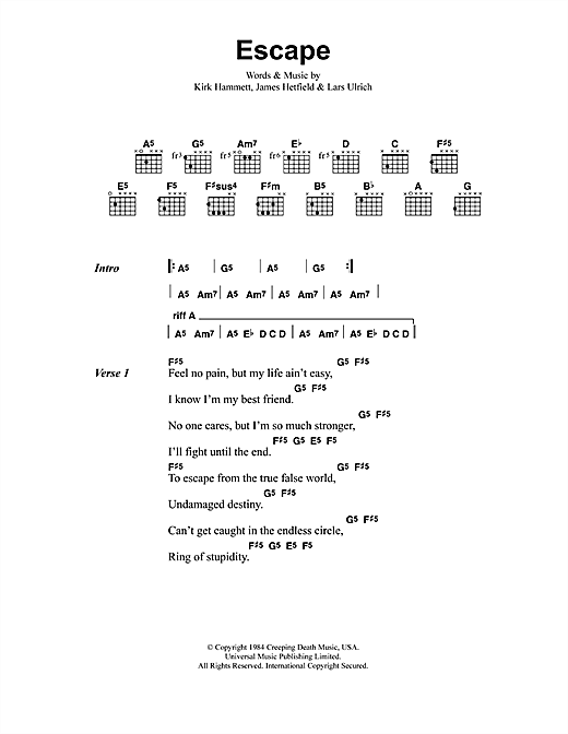 Escape Sheet Music