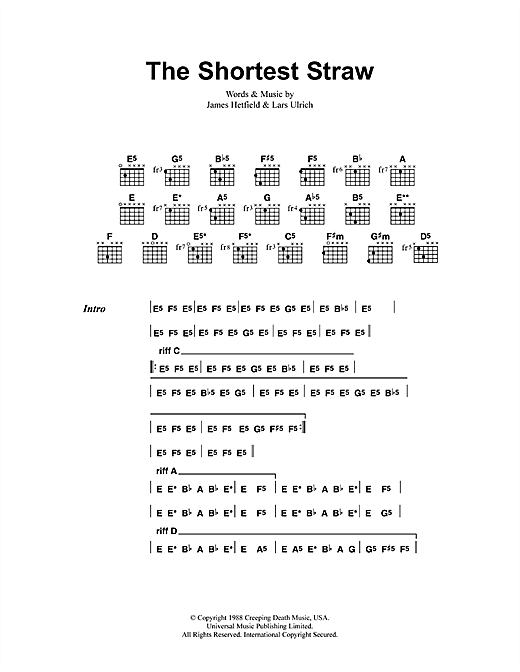 The Shortest Straw Sheet Music