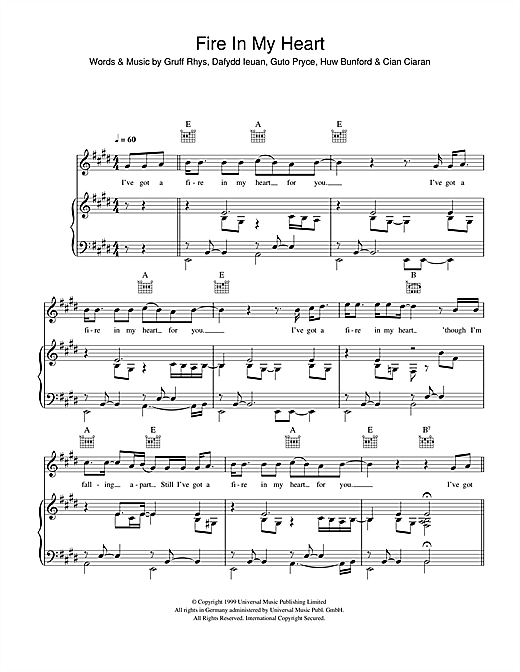 Fire In My Heart Sheet Music