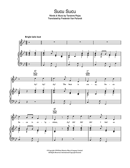 Sucu Sucu Sheet Music