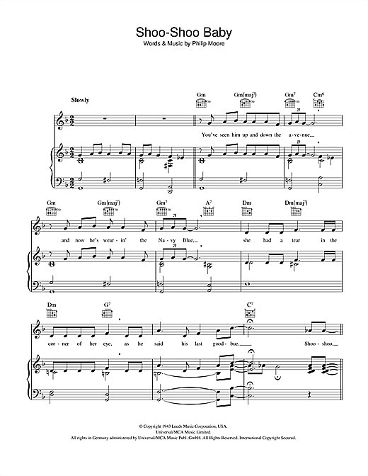 Shoo-Shoo Baby Sheet Music