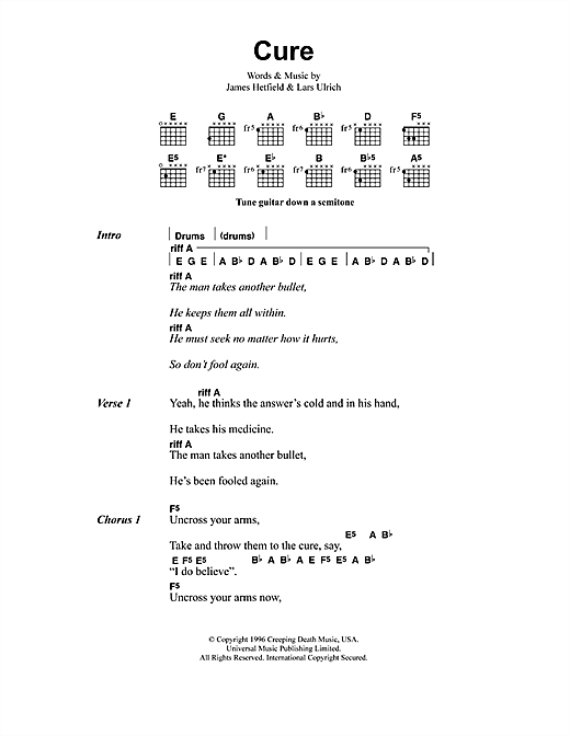 Cure Sheet Music