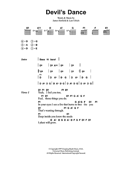 Devil's Dance Sheet Music