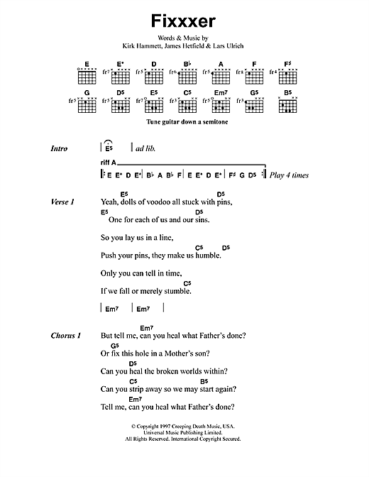 Fixxxer Sheet Music
