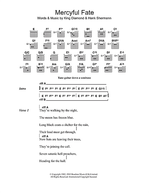 Mercyful Fate Sheet Music